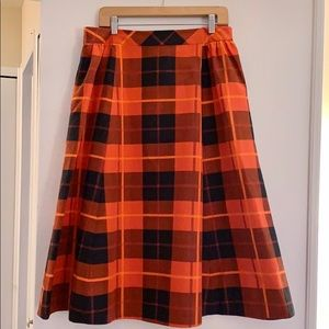 Kate Spade Holiday Plaid Midi Skirt